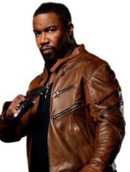 Casual Michael Jai Brown Arrow Jacket