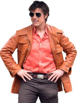 Manly Tom Cruise Mena Barry Seal Leather Jacket