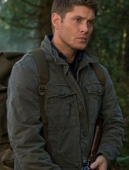 Supernatural Dean Winchester Green Cotton Coat