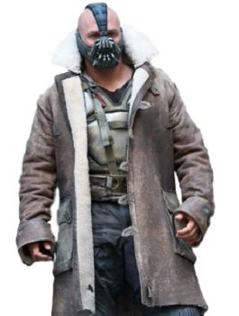 The Dark Knight Rises Bane long Distressed leather Coat