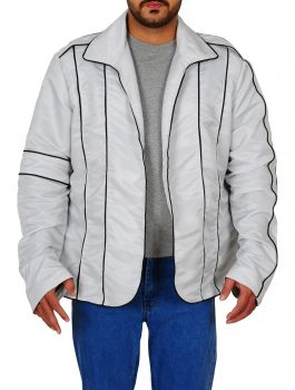 Michael Jackson Heal the World White Leather Jacket