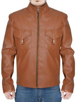 Movie San Andreas Dwayne Johnson Brown Leather Jacket