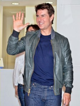 Tom Cruise Oblivion Promotion Leather Jacket