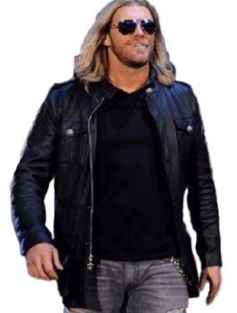 Amazing WWE Edge Wrestler Black Leather Jacket