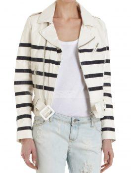 Global Citizen Festival Katie Holmes Black & White Jacket