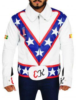 Blue American Icon Daredevil Evel Knievel Jacket
