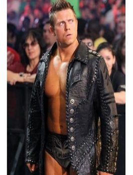 WWE The Miz Black Leather Jacket