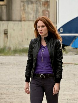 The Flash Kelly Frye Bette Sans Souci Black Leather Jacket