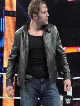 WWE RAW Dean Ambrose Black Leather Jacket