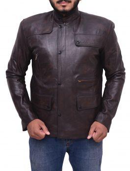 Deadpool Ajax Brown Leather Jacket