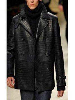 Alligator leather coat
