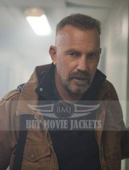 Jericho Stewart Kevin Costner Coyote Brown Jacket For Sale