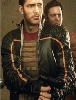 Battlefield Hardline Nick Mendoza Quilted Black Jacket
