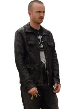 Aaron Paul Breaking Bad Black jacket
