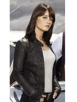 The Mentalist Drama Teresa Leather Black Jacket