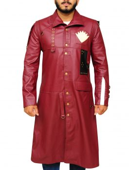 Yondu Guardians of the Galaxy Leather Maroon Coat