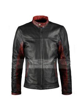 Crusader Dark Knight leather Black Jacket