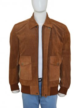 Jesse-Eisenberg-American-Ultra-Brown-Suede-Leather-Jacket