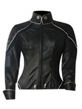 X-Men Storm Black Leather Jumpsuit Jacket