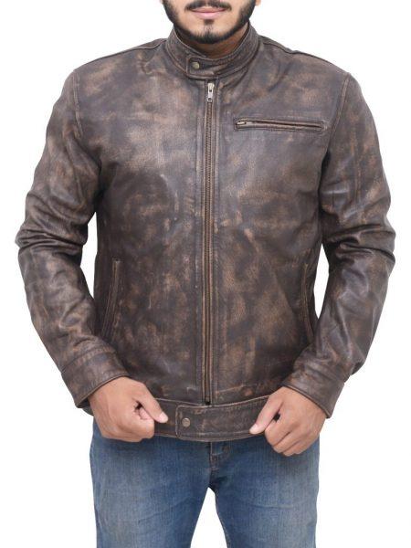 Lucas Till MacGyver Distress Brown Jacket