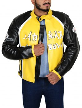 2003 Biker Boyz Derek Luke Yellow Motorcycle Jacket