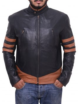Xo X-MEN Wolverine Leather Jacket Brown Faux