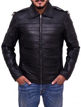 Man in the Mirror Stylish Michael Jackson Leather Jacket