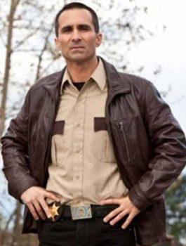 Bates Motel Nestor Carbonell Brown Jacket