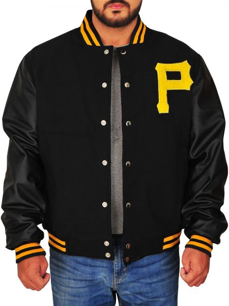 LETTER JACKET , P FOR PIRATE
