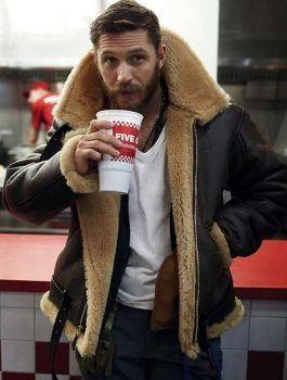 Tom Hardy Shearling Coat
