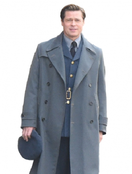 BRAD PITT ALLIED STYLISH LONG COAT