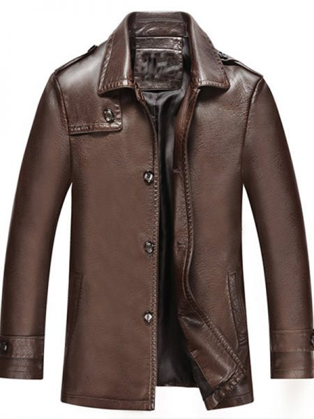 Men Become Brown Leather Jacket