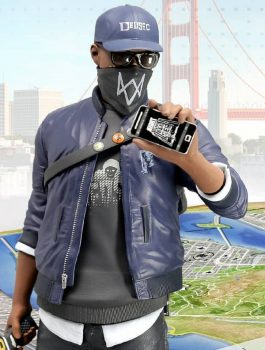 Watch Dogs 2 Marcus Holloway Leather Jacket