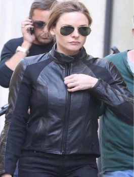 Mission Impossible 6 Rebecca Ferguson Black Leather Jacket