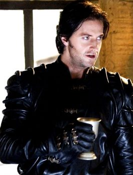 Robin Hood Richard Armitage Black Leather Jacket