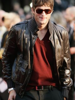 Ashton Kutcher Brown Jacket