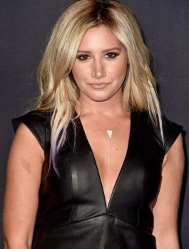 Walking Dead Premiere Ashley Tisdale Black Vest