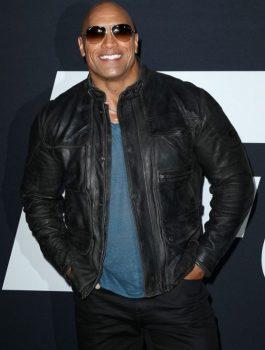 Fast 8 Premiere Dwayne Johnson Black Jacket