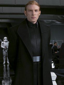 The Last Jedi Domhnall Gleeson Wool Black Coat