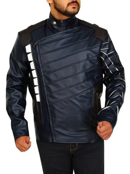 Avengers White Wolf Infinity War Leather Jacket
