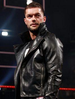 WWE Finn Balor Biker Full Sleeves Leather Jacket