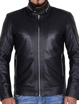 This Is Us Justin Hartley Black Leather Jacket