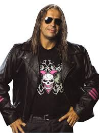 WWE The Hitman Bret Hart Black Leather Jacket