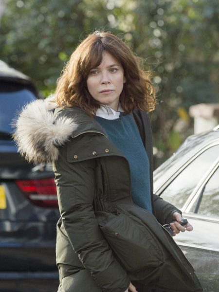 Anna Friel Marcella Green Coat