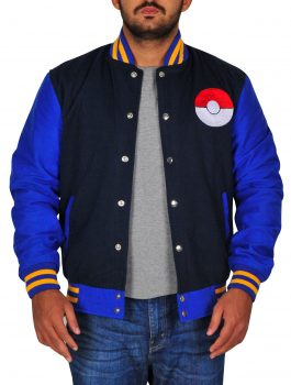 Ash Pokemon Fleece Varsity Jacket