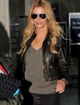 Brandi Glanville Black Leather Jacket