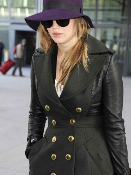 Jennifer Lawrence Designers Trench Coat