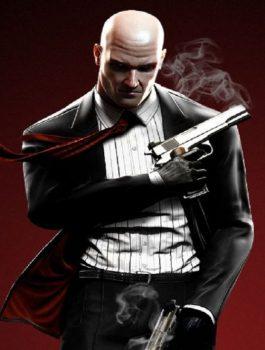 Hitman Agent 47 Rupert Friend Cooton Black Coat