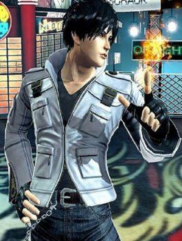 King Of Fighters XIV Kyo Kusanagi White Leather Jacket