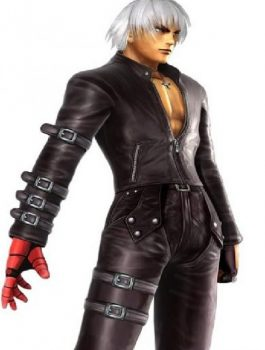 Halloween 99 K Dash King Of Fighters Cosplay Faux Leather Jacket